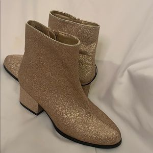 Forever 21 gold boots